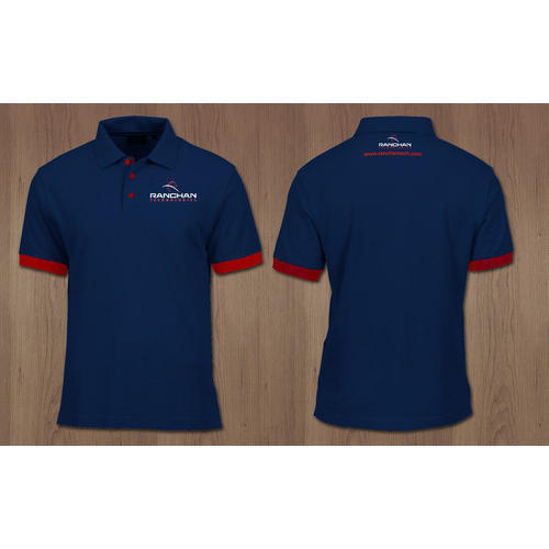 6d2ed42e Blue Corporate Company Design T-Shirt, Size: M And L, Rs 400 /piece ...