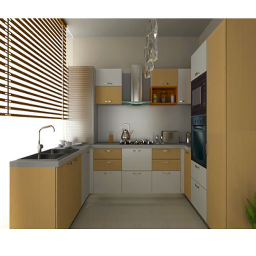 U Shaped Modular Kitchen: Modern U Shaped Modular Kitchen, Rs 950 /square Feet