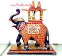 Metal Ambabadi Elephant Statues