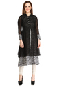 Cottinfab Women's Maroon Layered Kurti