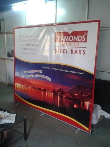 Backdrop Rollup Stands with Flex Printing