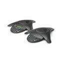 110v 60hz Ac / 220v 50 Hz Ac Polycom Sound Station2 Analog Conference Phone