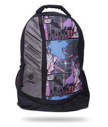 Polyester Printed Free Size Backpack