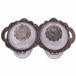Oxidize Metal & Glass 2 Bowl Set