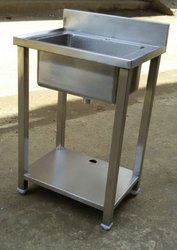 Single Stainless Steel Sink Table