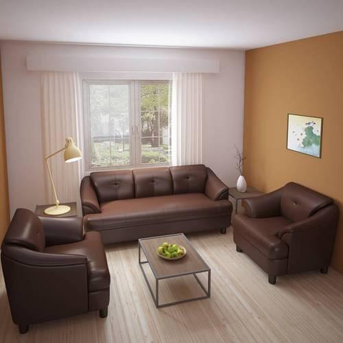 Boss Leatherette 3 1 1 Brown Sofa Set At Rs 20999 Piece Designer
