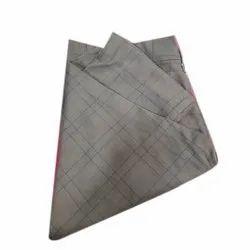 Brown Mens Slim Fit Cotton Pant, Design/Pattern: Check, Handwash