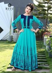 Rayon Gown Style Kurti