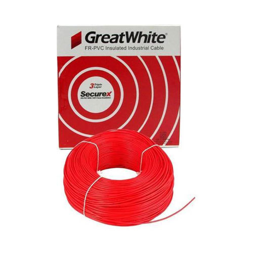 Red And BLACK Great White FR - PVC Insulated Industrial Cable 2.50 ...