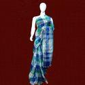 Ladies Stylish Checked Linen Saree