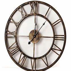 YADU METALS Round Iron Wall Clock, Size: Costumize