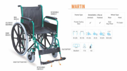 MARTIN Premium Steel Wheelchair