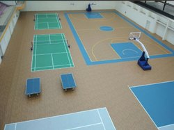 Indoor Basketball And Badminton Court