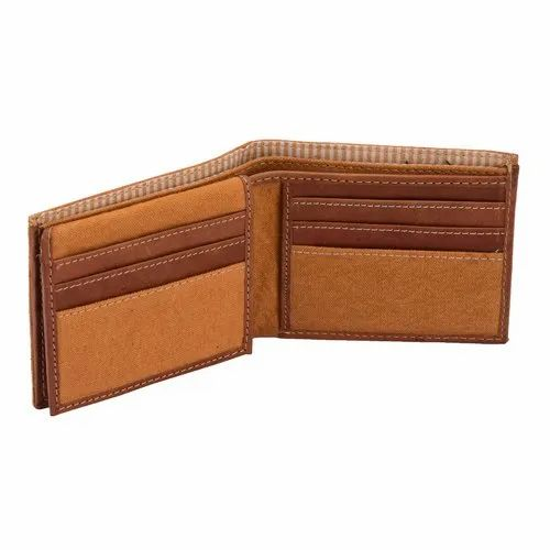 0a6c2ced76dc Canvas & Awl Men' ' s RFID Bifold Canvas Wallet with Genuine Leather Trim 15