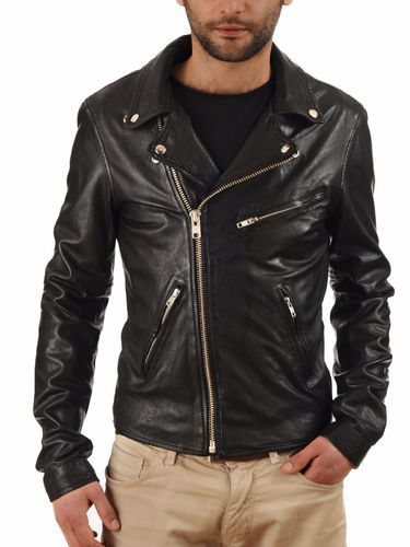 Womens Leather Jacket Stylish Motorcycle Biker Genuine Lambskin 83