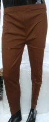 Brown Ladies Cigarette Pants