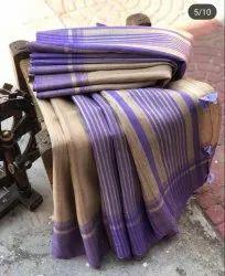 Linen Saree - Pure Handloom Khaddi Ghicha Tussar Silk Saree