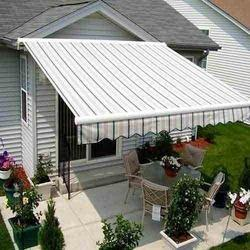 Striped Outdoor Awning