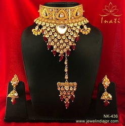 Latest Most Fascinating Indian Traditional Wedding Designer Bridal Kundan Ethic Choker Necklace Jewe