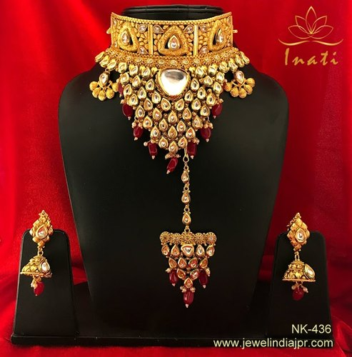 12f70997d7319d Latest Most Fascinating Indian Traditional Wedding Designer Bridal Kundan  Ethic Choker Necklace Jewe