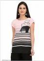 Pink Printed Short Sleeve Top
