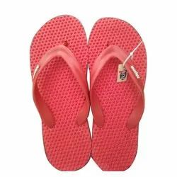 Rubber Daily Wear Red Dotted Gents Casual Slipper