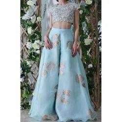 Cotton Georgette Ladies Wedding Dress, Dry clean