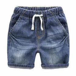 Denim Plain Kids Shorts