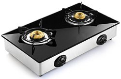 Glasstop Gas Stove - 2 Burner for Kitchen