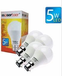 5W ECO LED Bulb B22 Pack of 4 Cool White