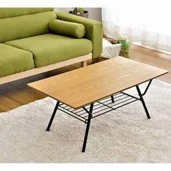InnnoFur Natural Teak Wooden Folding Coffee Table, For Home