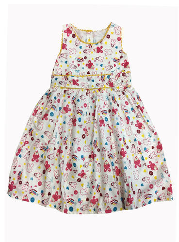 Surplusbrand Cotton Kids Printed Frock