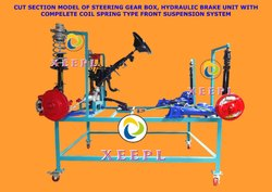 Cut Section Model of Steering Gear Box, Hydraulic Brake Unit With Complete Coil Spring Type Front S