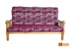 Geneeva  Teakwood 3 Seater Sofa