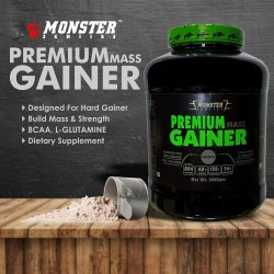 Monster Weight Gainer Premium Mass Gainer, Packaging Type: Plastic Container
