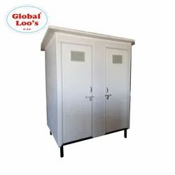 PVC Prefabricated Portable Toilet Bathroom Block Set No. Of Compartments- 2