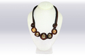 Umangnx Brown Color Imported Stone Work Necklace