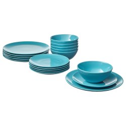 Plastic Dinnerware Set, For Dinner Purpose, 18 Piece