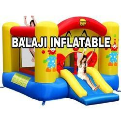 Bounce House With Slide Obstacle Children Outdoor Jump Castle With Blower
