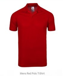 Mens Red Polo T-Shirt