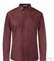 Park Avenue Dark Maroon Regular Fit Shirt
