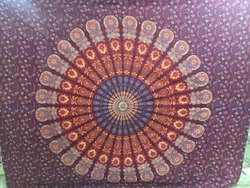 Mandala Print Double Bedsheet