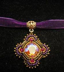 Swarovski And Seed Beads Pendant