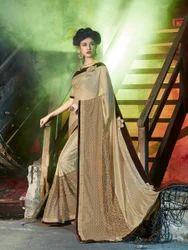 Golden Color Saree