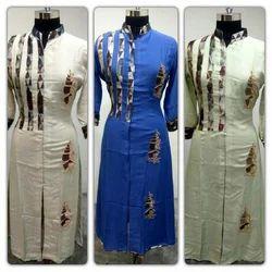 3/4th Sleeve Ethnic Ladies Fancy Kurti