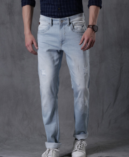 6135cc87cfe Men Blue Skinny Fit Low Rise Clean Look Jeans