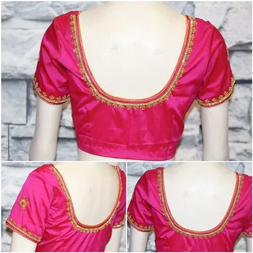 Silk Simple Embroidery Blouse Sthri Id 21725010933,Fade Haircut Designs For Black Boys