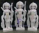 Marble Ram Darbar Statues with Base
