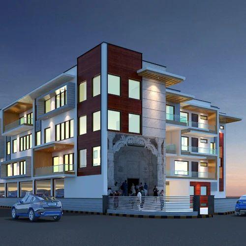 Hospital Exterior 3D Design, कमर्शियल बाहरी डिजाइनिंग In