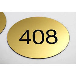 Brass Room Number Plate